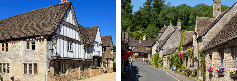 Lacock and Castle Combe