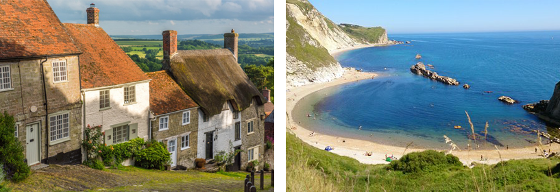 Gold Hill and Lulworth Cove