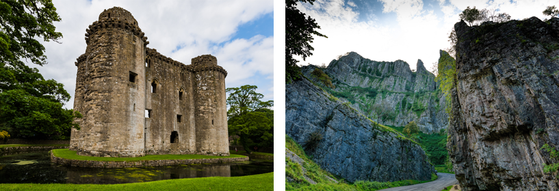 Nunney Castle and Cheddar Gorge