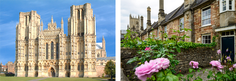 Wells cathedral and mediaeval street