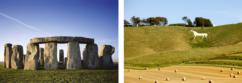Stonehenge and Cherhill White Horse